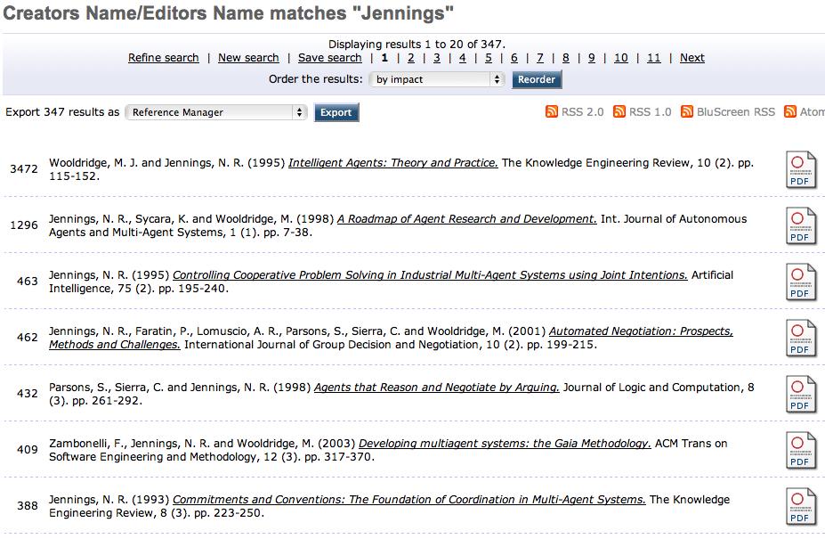 Citation Tracking - EPrints Files
